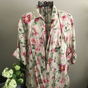 Floral over shirt by Eden & Olivia size XL